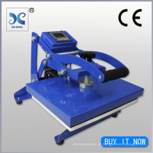 Controle digital Novo design Pequeno tamanho Calor Máquina de imprensa para transferência de calor T Shirt