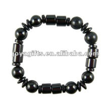 Bracelet à perles rondes Hematite