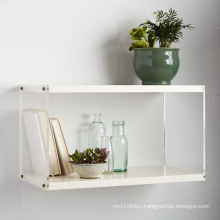 Acrylic Wall Mounted Shelf with White Lacquer for Vase Display