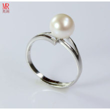 Sterling Silver Cultured Freshwater White Pearl Ring