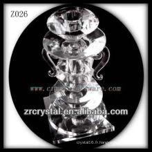 Bougeoir en cristal populaire Z026