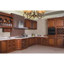 Cabinet de cuisine classique en bois massif