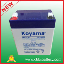 12V 4ah Bleisäure-AGM-Batterie für Sicherheit, Roller