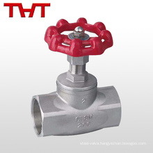 pn16 stainless steel screw end globe valve