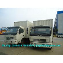 Euro II or Euro IV DFAC 6-7T pickup van truck / mini van car/ cargo van / wing van truck with hydraulic tailgate