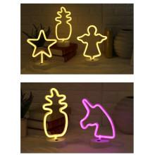 Lámpara de letreros de neón iluminada para la decoración del hogar