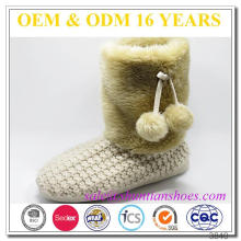 Ladies nova moda faux pele inverno quentes indoor fur boot