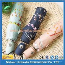 Fashion 3 Folding UV Automatic Block Sun Umbrella