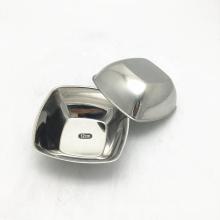 style coréen bol de service de collation rectangle en acier inoxydable de 8 pouces