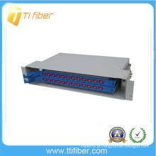 """1 U Rack de 19 """"montado em rack Porta de fibra óptica de 24 portas FC"""