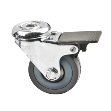 Bolt Hole Light Duty Industrial Caster with Plastic Brake