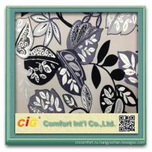 последние дизайн вырезать Ворсовые ткани диван и furnitureupholstery ткани листьев