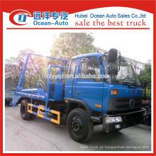 Dongfeng 8cbm capacidade swing elevador caminhão de lixo