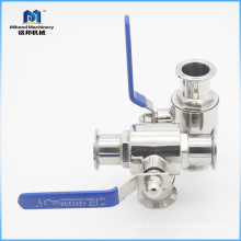 High Quality China factory Sanitary Stainless Steel Food grade 3-way control valve