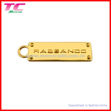 Étiquette de logo de bagage métallique