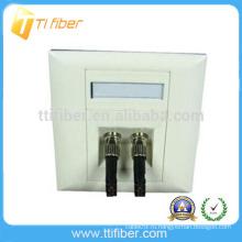Двунаправленная оптоволоконная лицевая панель / настенная панель ST Port ST