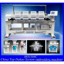 Cuatro cabezas automático casquillo bordado máquina con Software de bordado Wilcom