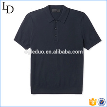 Las camisetas deportivas de polo de las sujeciones del botón cortan la combinación de color de coser polo