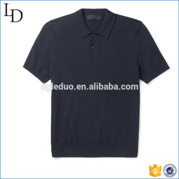 Camisa de polo esporte fastenings botão cortar costurar combinação de cor polo