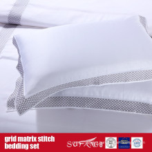 Grid Matrix Stitch Bedding Set Classical Design