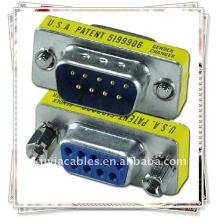 DB9 rs232 männlich zum weiblichen Adapter