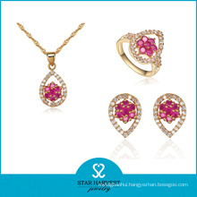 Red 925 Sterling Silver Jewelry Set Hot Selling (J-0051)