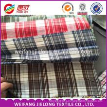 32s 21s 100% hilado de algodón teñido tela tejida a cuadros tejido uniforme 100 hilados de algodón teñido de tela tejida