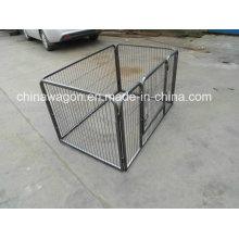 Gaiola de cão de estimação grande de Metal de dobramento resistente