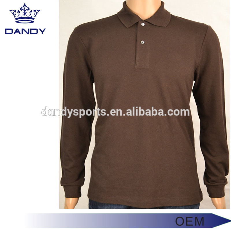 brown polo shirt