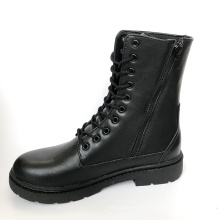 Cheap Factory Wholesale High Quality Black Genuine Full Leather Army Combat Boots Military High Ankle Army Boots For Men