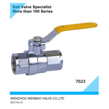 Two Piece Full Port Electroplating Brass Ball Valve