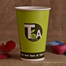 Бумажный стаканчик для горячего кофе, чая, горячего напитка