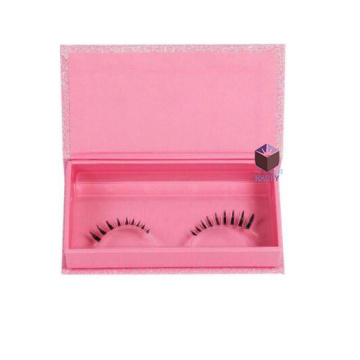 Foiled Logo Pink Glitter Eyelashes Box