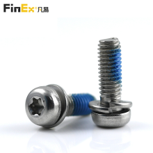 Stainless Steel Torx Pan Head SEMS Screw with Spring Washer