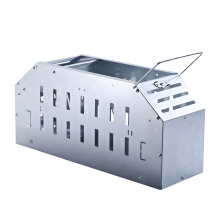 Stainless steel metal live catch mouse trap cage
