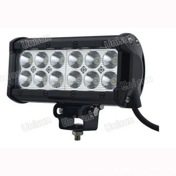 Unisun 9-32V Impermeable 6.5 pulgadas 36 vatios CREE 3W Barra de luz LED