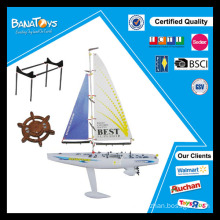 Funny self-assembly toy rc sailing boat