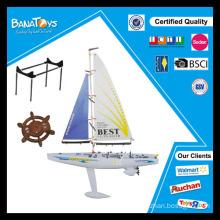 Engraçado, auto-montagem, brinquedo, rc, velejando, bote