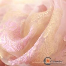 Delantal del salón de belleza El remolino hermoso de Rose imprimió la tela de la piel del organza