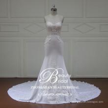 Robe de mariée en forme de sirène sans bretelles élégante et sans manches à Zhongshan Chine