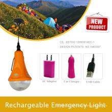 Luzes de acampamento para caminhadas; Luz de emergência portátil com LED carro; Kit de iluminação em casa pela luz solar fábrica