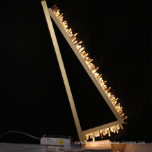 Modern luxury indoor gold staircase lighting crystal chandeliers pendant lights for hotel lobby