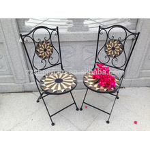 outdoor round mosaic table