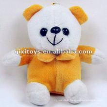 cute mini teddy plush toy bear keychain