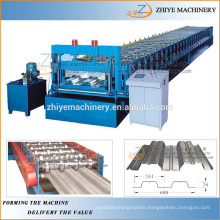 floor decker rolling forming machine/laminate flooring production line/steel profile cold forming machine