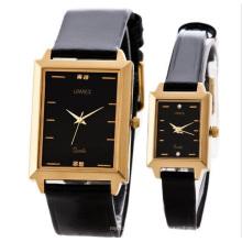 2014 klassische Marken Leder Paar Uhren