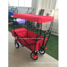 Red Color Canopy Wagon with Brake