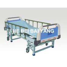 (A-44) - Lit d'hôpital à trois fonctions mobile avec tête de lit en ABS
