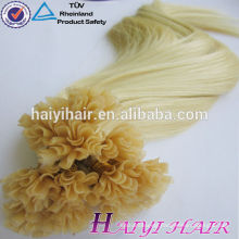 2018 New Arrival Last 12 Months Double Drawn Full Cuticle U Tip Prebonded Hair Blond 100 Keratin Tipped Human Hair Extension