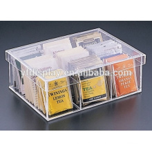 Boîte d'emballage en acrylique transparente transparente faite sur commande de thé